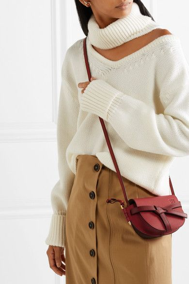 6e069535e4d Loewe - Gate mini textured-leather shoulder bag in 2019 | Accesorize ...