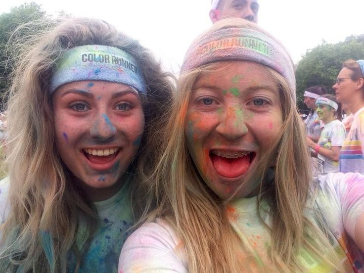 This is my favourite picture of my best friend and I from the colour run!