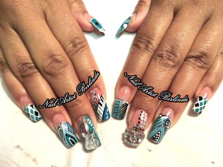 Luxury Rock N Roll Nail Designs Composition - Nail Paint Design ...