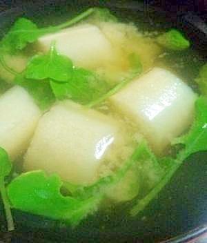ラディッシュの葉の味噌汁
