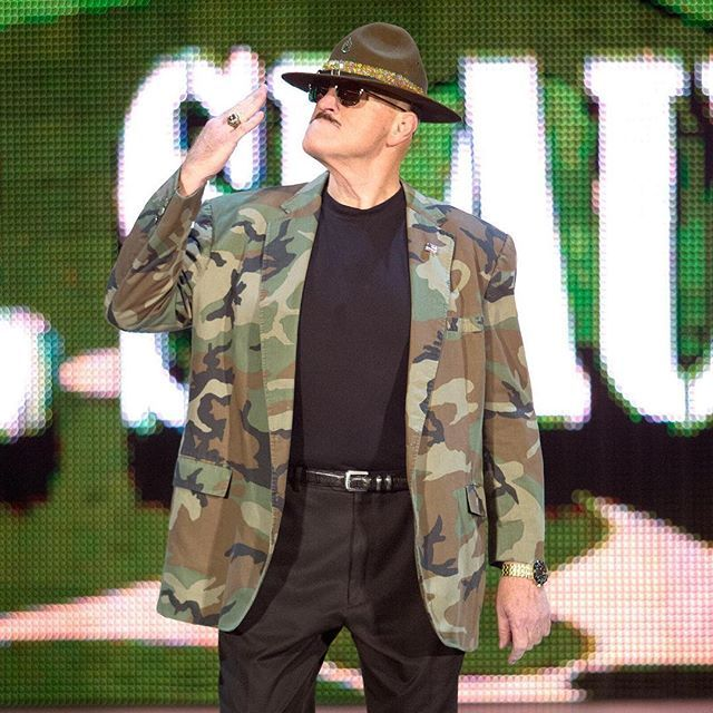wwe TEN-HUT! Make sure to wish #WWE Hall of Famer, Sgt. Slaughter, a happy birthday today!  2017/08/28 00:17:16