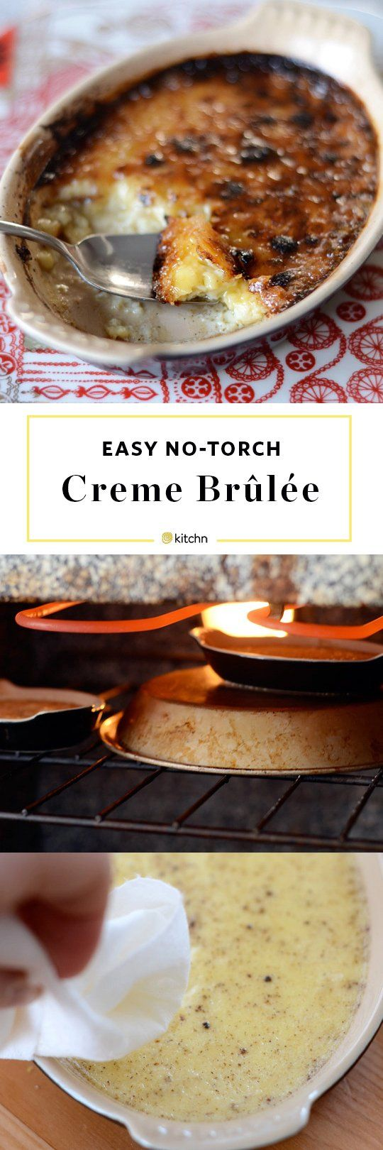 BEST Easy Creme Brulee Recipe. No torch required for this simple custard dessert! Perfect if you're looking for recipes and ideas for Valentine's Day for two!