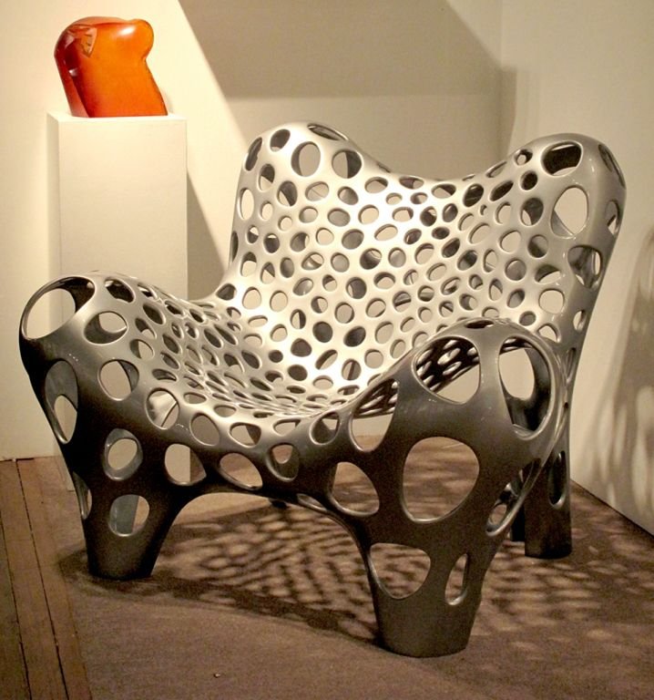 Contemporary Fauteuil II In GFRP And Silver Coating (Edition 1/12). Unique  FurnitureFurniture ...