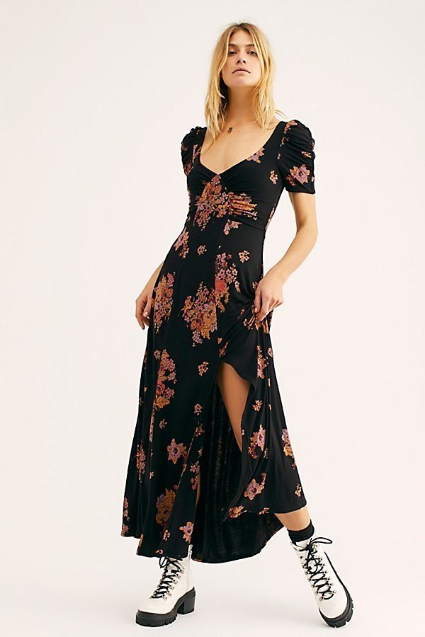 4524a0b95e Sweet Moments In Time Maxi Dress - Black Short Sleeve Floral Maxi Dress  with Criss Cross Back - Black Floral Maxi Dresses - Short Sleeve Floral  Dresses ...
