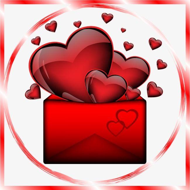 Romantic Valentines Day Red Heart Envelope Heart Envelope