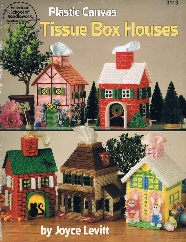 Book Cover Craft Cover : Pc tissue box houses by joyce levitt front cover