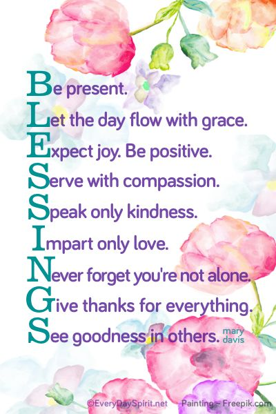 """Blessings"" Print. A colorful addition to your desk or gift for a friend. Click to see on Etsy ~ xo"