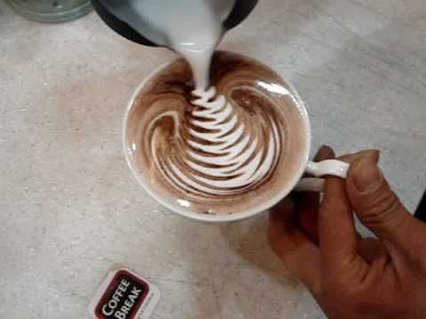 How to make designs in your espresso - I've always wanted to try this!