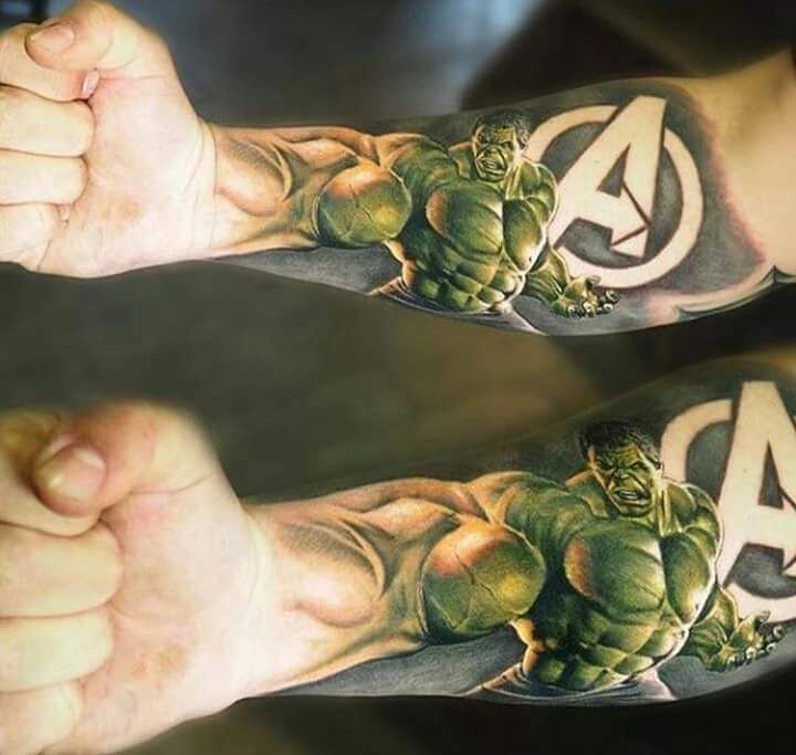 Hulk tattoo - Visit to grab an amazing super hero shirt now on sale!