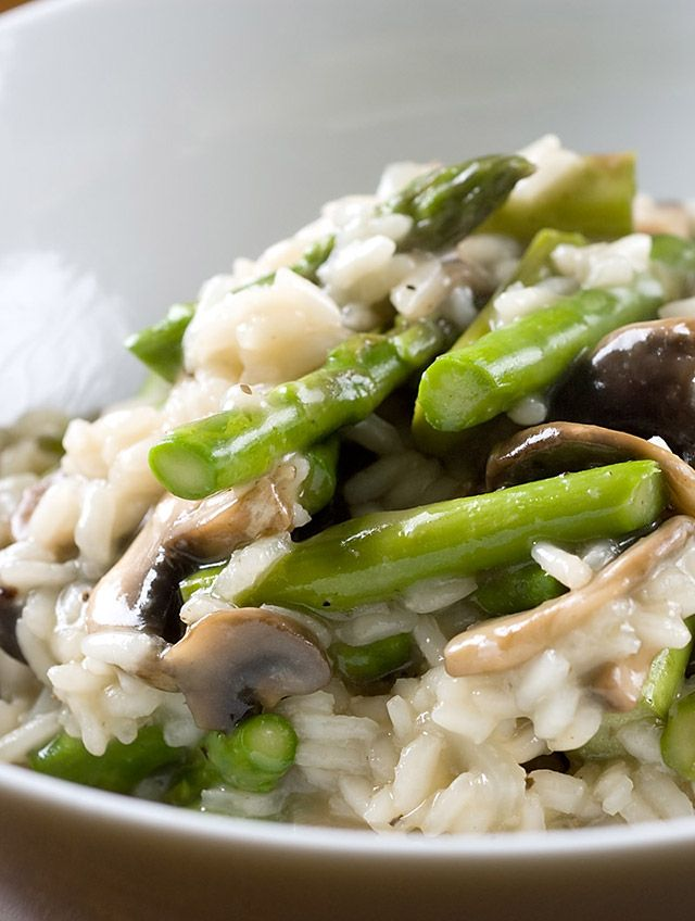 Asparagus and Mushroom Risotto Recipe