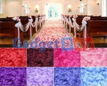 100x Silk Rose Petals Flower Leaves Bridal Wedding Table Carpet Ornaments
