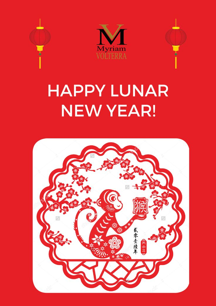 Happy Lunar New Year from Myriam Volterra team! Lots of luck for this Monkey year! 猴年大吉