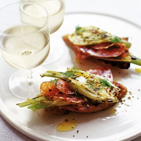 51 best christmas starter recipes images on pinterest best recipes try out this fennel and salami bruschetta for an easy to make starter forumfinder Choice Image