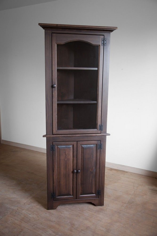 Small Corner Cupboard With Glass Peaceful Valley Amish Furniture Small Corner Decor Corner Cupboard Furniture