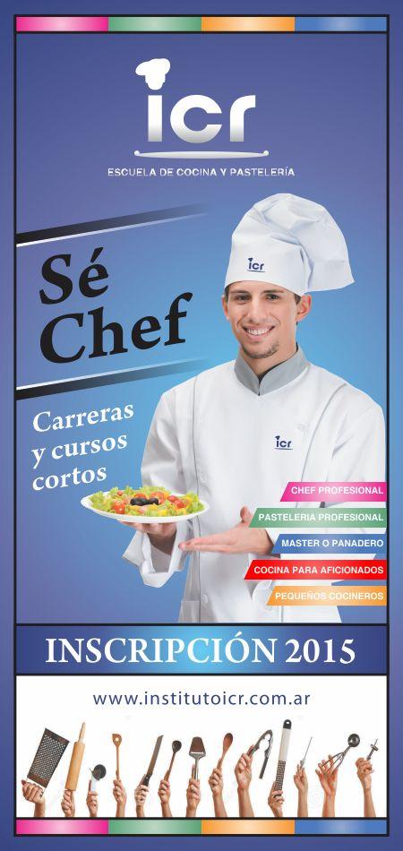 Banner impreso para escuela de cocina y pastelería