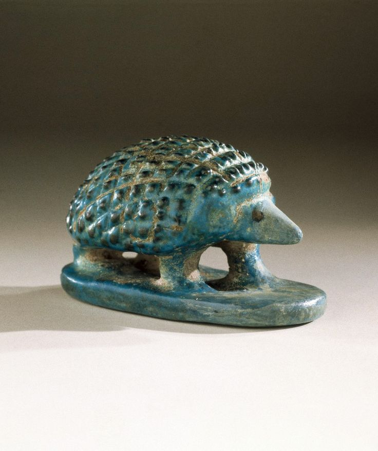 "Hedgehog, 2000-1700 B.C. Faience. Egypt. Via Brooklyn Museum, NY ""When food is scarce, hedgehogs retreat into underground dens for long periods, only to re-emerge in times of abundance. The Egyptians..."