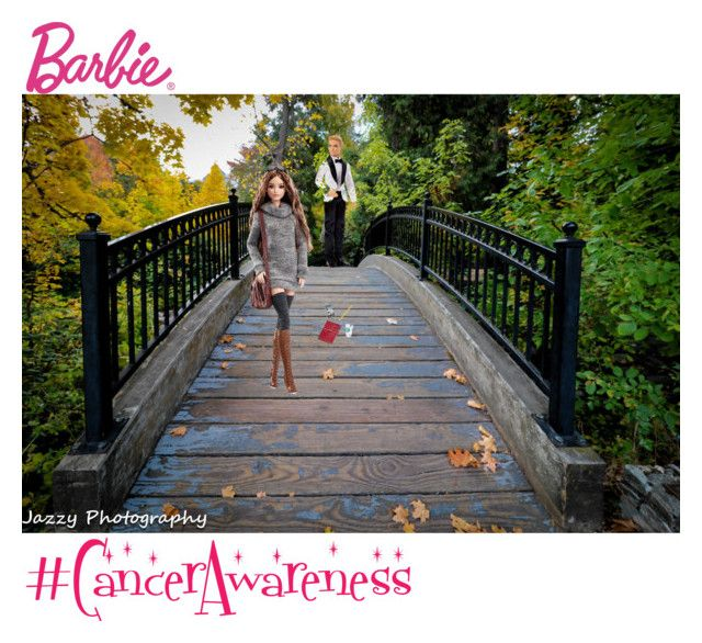 """""""Cancer Awareness Month"""" by jazzyrent ❤ liked on Polyvore featuring Mattel, Fall, Barbie, bridge, Ken, CancerAwarness and jazzy50"""