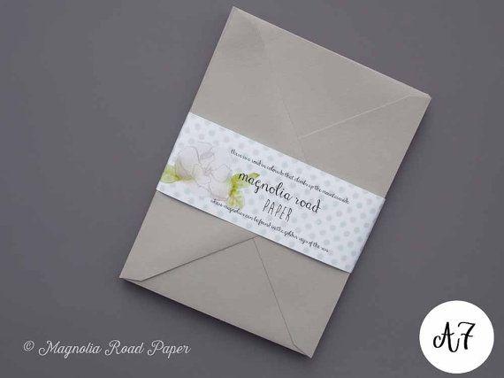Light Gray Envelopes 20pk A7 5x7 Grey Wedding
