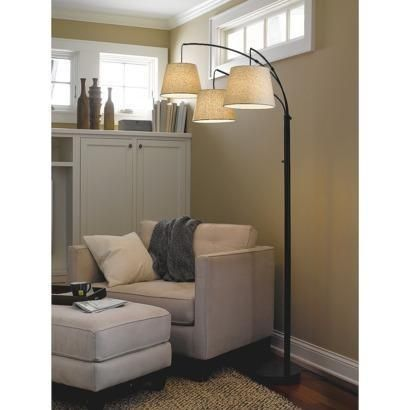 threshold 3arm arc floor lamp