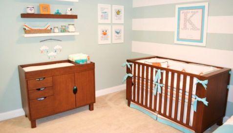 Decoração de quarto de bebê aqua e coral estilo praiano - Modernidade, criatividade e ousadia definem esse masculino quarto de bebê aqua e coral praiano.