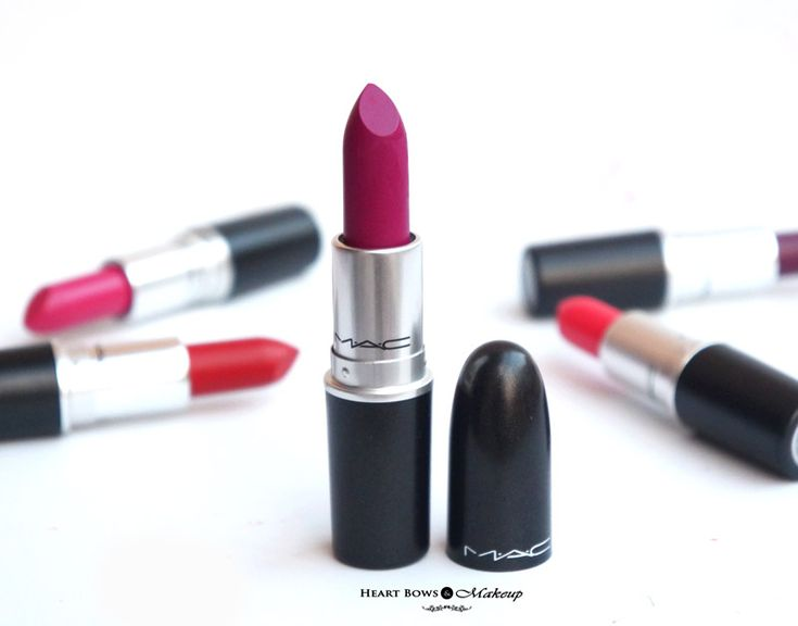 Bets Fuschia Purple Lipstick: MAC Flat Out Fabulous! http://www.heartbowsmakeup.com/best-mac-lipsticks-fair-olive-skintones/