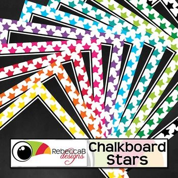 Chalkboard Stars contains 20 star framed, chalkboard backgrounds.  10 U.S. Letter size and 10 square size with 10 different colors.  Place text and clip art over the top to create fun product covers, worksheets, activities, posters and other teaching resources.
