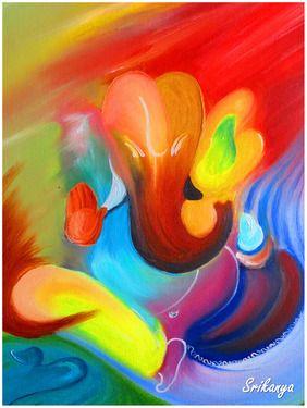 "Saatchi Online Artist Srikanya Kundu; Painting, ""Color of Divinity"" #art"