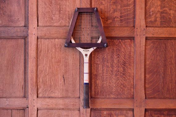 VINTAGE SLAZENGER TENNIS RACKET, WOOD TENNIS RACKET, CHELTENHAM, MADE IN ENGLAND, SPORTS DECOR  Beautiful vintage display piece!  Hang it, place