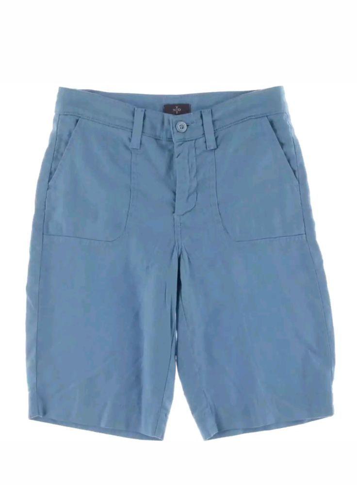 NYDJ Womens Bermuda Linen Short Shorts