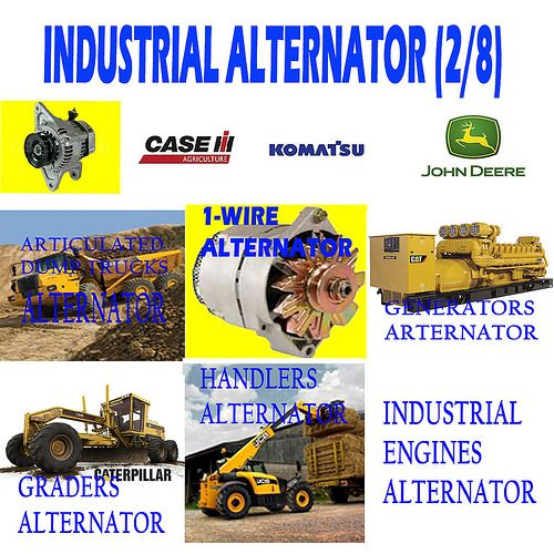 INDUSTRIAL ALTERNATOR (2/8) ARTICULATED DUMP TRUCKS , 1-WIRE, GENERATORS, GRADERS, HANDLERS, INDUSTRIAL ENGINES ALTERNATOR
