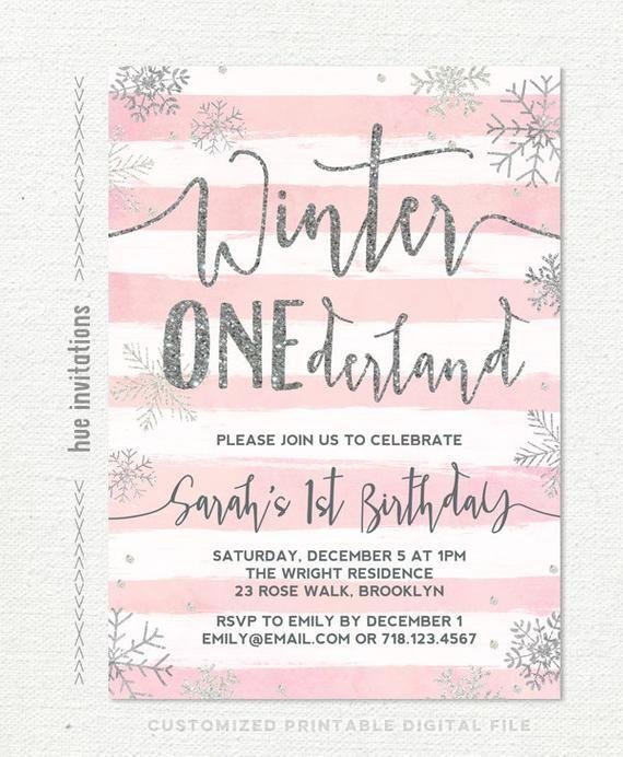 Pink Winter Onederland Birthday