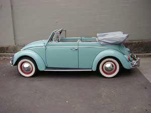 the cutest aqua volkswagen bug