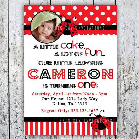 Best 25 Ladybug birthday invitations ideas – Ladybug Party Invitations