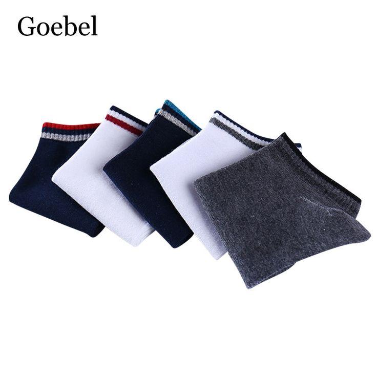 Goebel Short Tube Socks Men Deodorant Stitching Color Man Cotton Socks Shallow Mouth Invisible Male Boat Socks 5pairs/lot