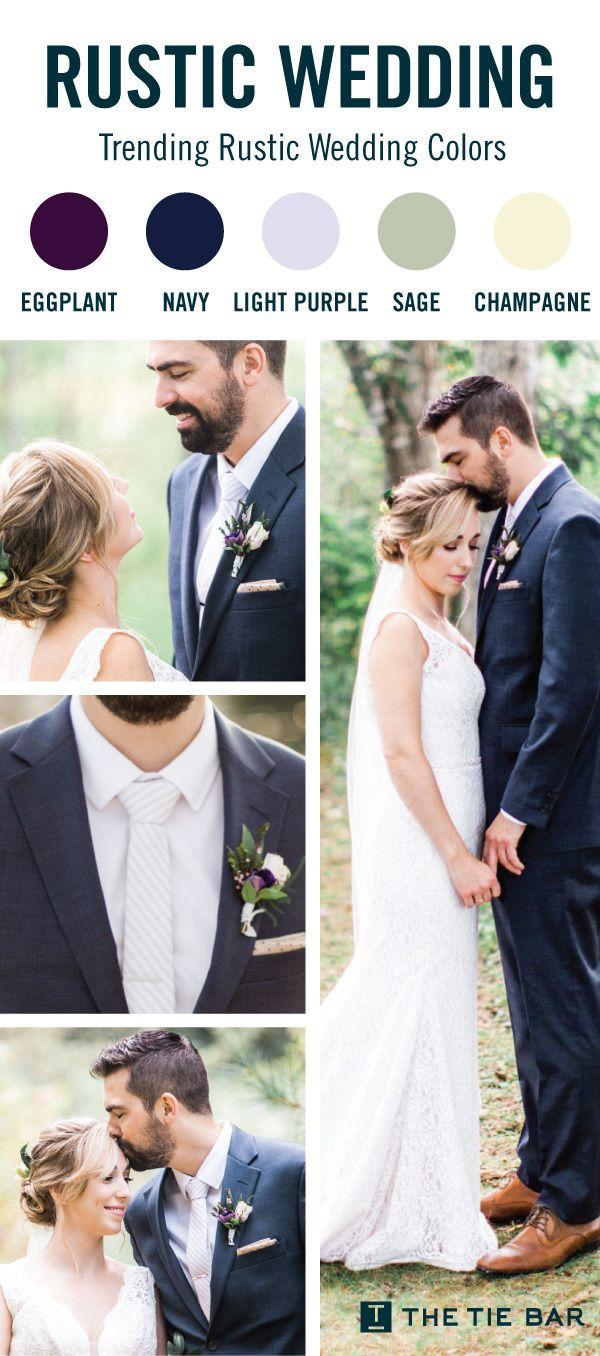 Ties & Accessories To Match Every Wedding Color Imaginable. #weddingplanning #groomsmen #groom