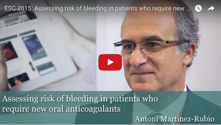 """Professor Antoni Martinez-Rubio discusses """"Assessing risk of bleeding in patients who require new oral anticoagulants"""" at the 2015 ESC congress in London."""