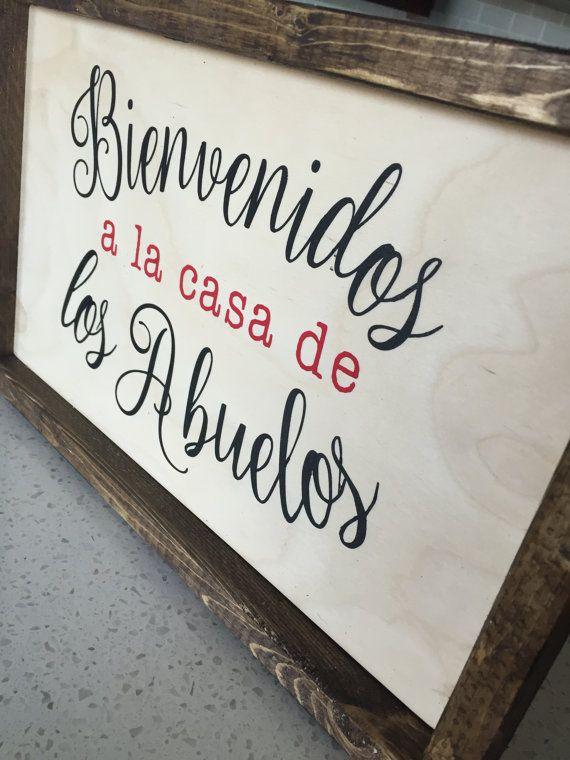 Bienvenidos a la casa de los abuelos. Welcome to the granparents house. 15' x…