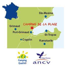 Camping de la  Plage proche de Grimaud et de Port-Grimaud