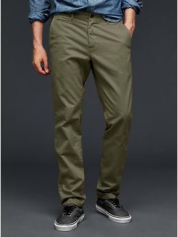 Lived-in slim khaki | Gap