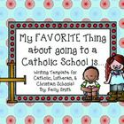 Celebrate Catholic Schools Week with your kiddos by having them write about their favorite part of going to a Catholic School!  Template is include...