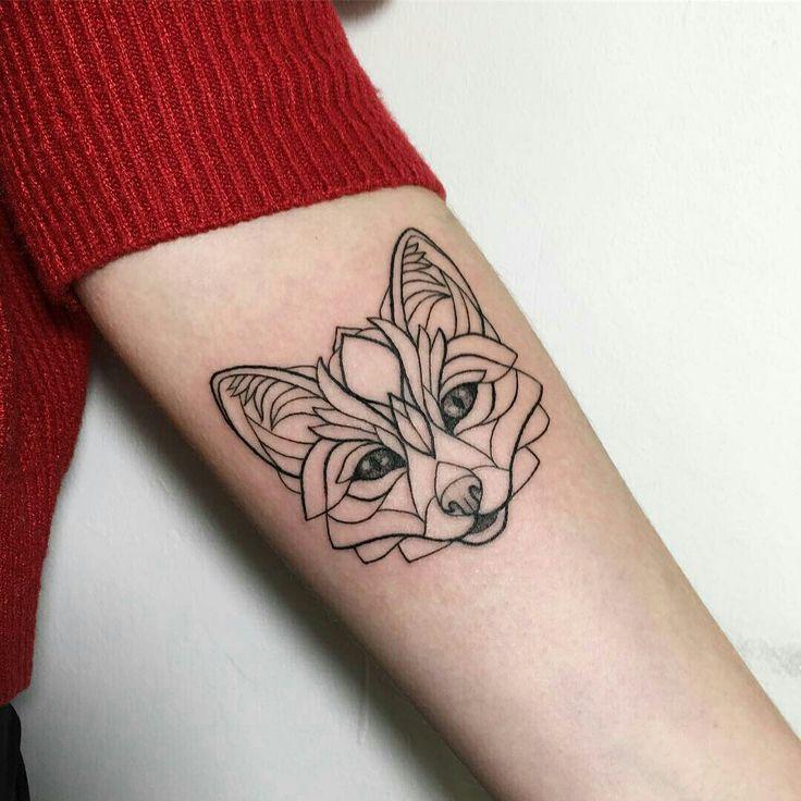 Tattoo done by: Ira Shmarinova #zorro #fox #foxtattoo