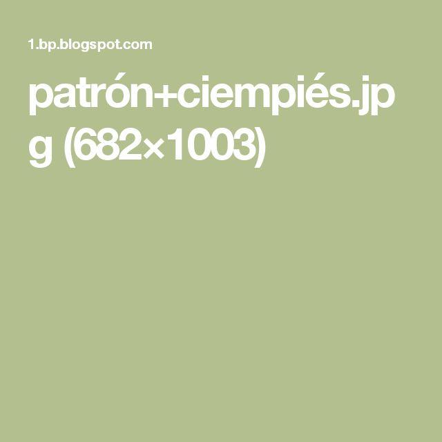 patrón+ciempiés.jpg (682×1003)