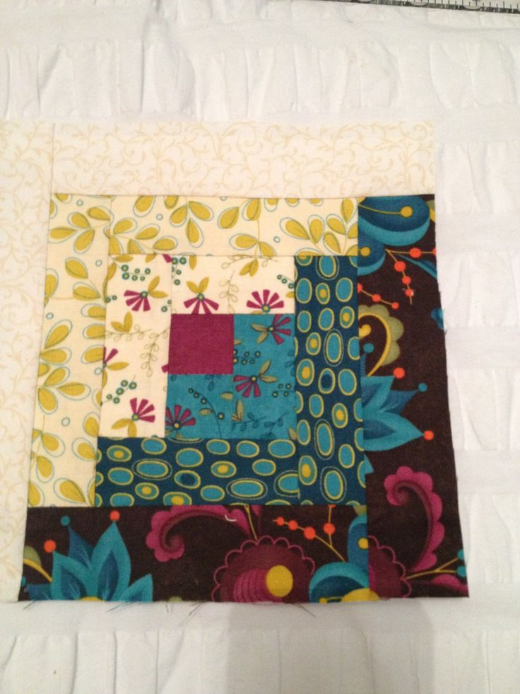 Log cabin block for my quilt