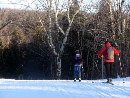 Ski de fond à La Chaux-de-Fond (Jura Suisse)