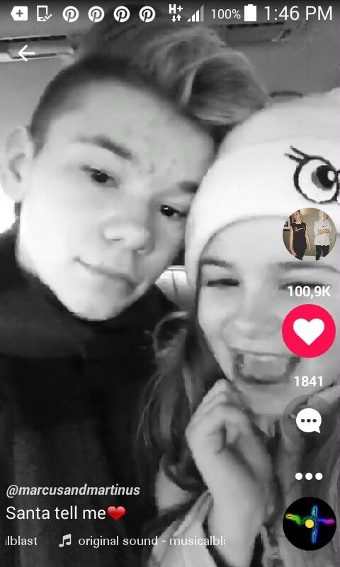 Martinus with EMMa gunnarsen hey guys have a lovely day we where in the car
