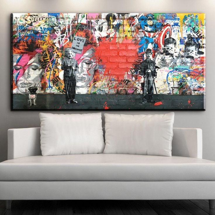 xdr413 1 PCS Banksy Art Love Is The Answer Wall Art Graffiti Einstein Holding a Sign Colorful Canvas Printings for Living Room D-in Painting & Calligraphy from Home & Garden on Aliexpress.com | Alibaba Group