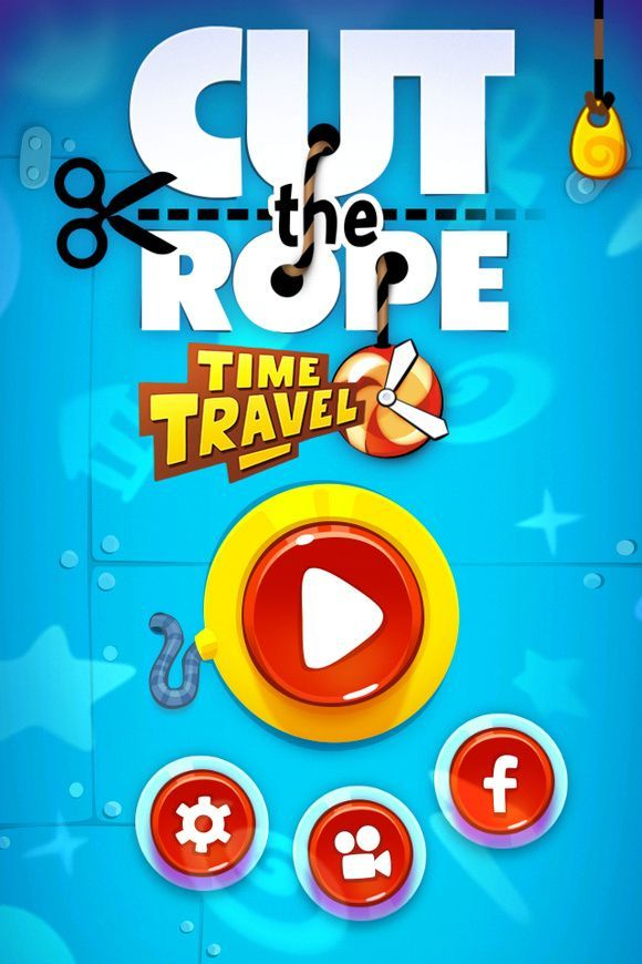 Cute the Rope - Time Travel Main Menu
