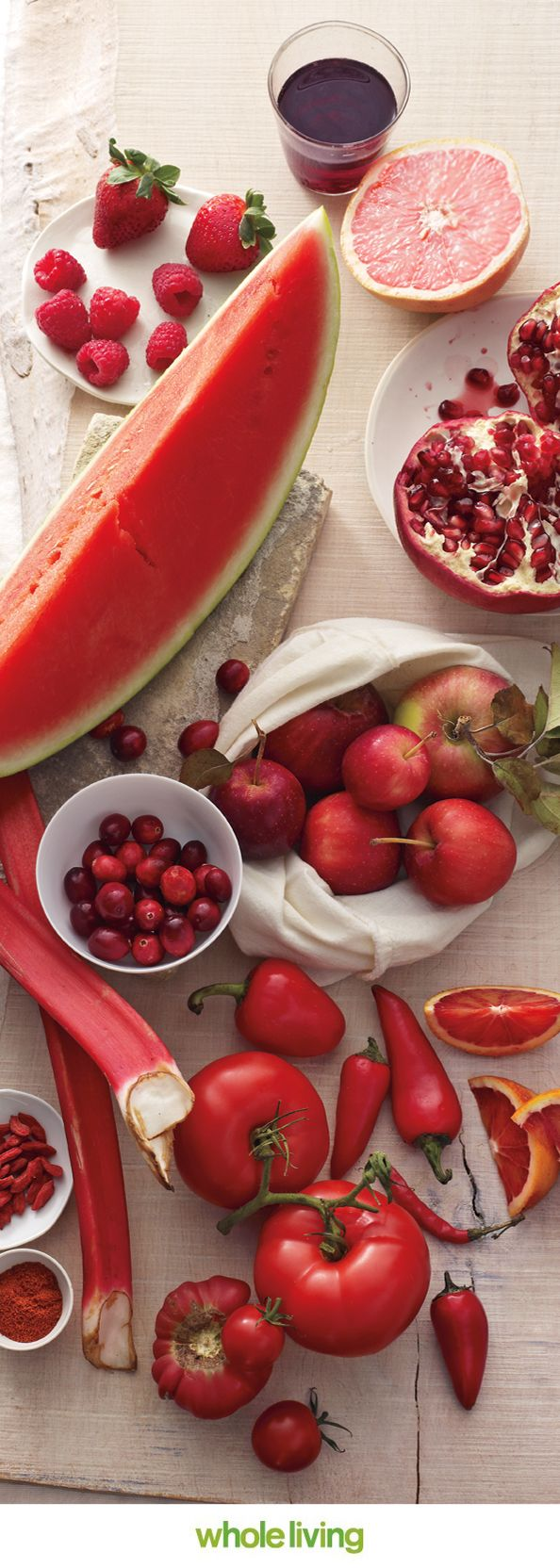 Eat your colors! Red foods are rich in resveratrol, capsaicin, & lycopene.