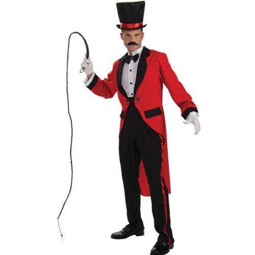 MENS ADULT CIRCUS RINGMASTER LION TAMER FANCY DRESS COSTUME – TAILCOAT OUTFIT   Fancy