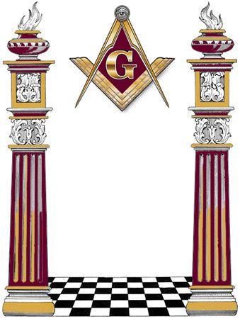 Freemasonry:  #Freemasonry, two pillars.